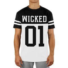 Футболка Wicked One Quarterback black - white
