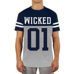 Футболка Wicked One Quarterback navy - gray