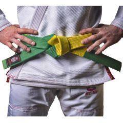 Пояс для соревнований БЖЖ IGWT yellow - green