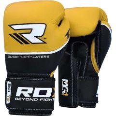 Боксерские перчатки RDX BGL T9 black - gold