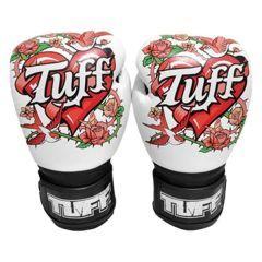Боксерские перчатки Tuff Rose white