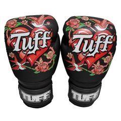 Боксерские перчатки Tuff Rose black