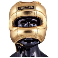 Боксерский шлем Ultimatum Boxing Gen3FaceBar gold