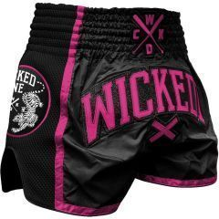 Тайские шорты Wicked One Short Muay-Thai Pink Panther Black - Pink