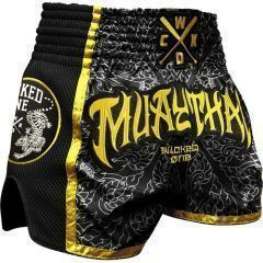 Тайские шорты Wicked One Short Muay-Thai Black - Yellow
