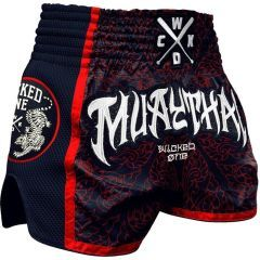 Тайские шорты Wicked One Short Muay-Thai Navy - Red
