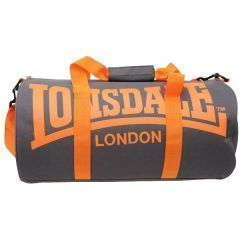 Спортивная сумка Lonsdale Barrel light gray - orange