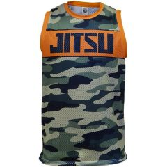 Спортивная майка Jitsu Camo green - orange