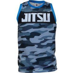 Спортивная майка Jitsu Camo blue - black