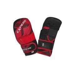 Гибридные MMA перчатки Flamma Expert black - red