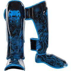 Защита голени и стопы (шингарды) Venum Fusion black - blue