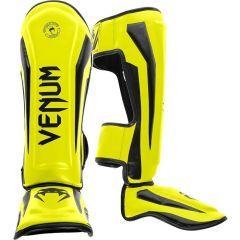 Защита голени и стопы (шингарды) Venum Elite black - yellow