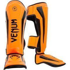 Защита голени и стопы (шингарды) Venum Elite black - orange