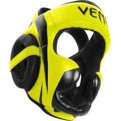 Боксерский шлем Venum Elite black - yellow