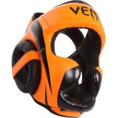 Боксерский шлем Venum Elite black - orange