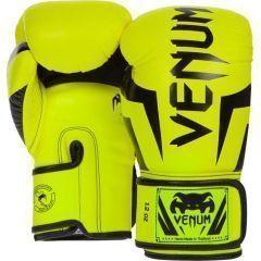 Боксерские перчатки Venum Elite black - yellow