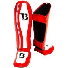 Защита голени и стопы Booster BSG V3 white - red
