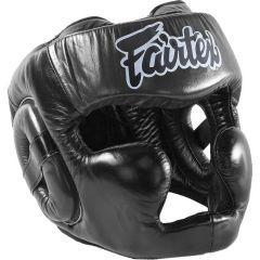 Боксерский шлем Fairtex Extra Vision black