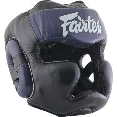 Боксерский шлем Fairtex Extra Vision black - navy