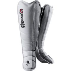 Защита голени и стопы Hayabusa Tokushu Instep Shin Guards white - gray