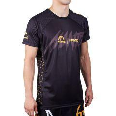 Тренировочная футболка Manto Hyper black - yellow