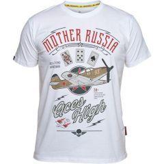 Футболка Mother Russia Аэрокобра - white