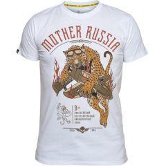 Футболка Mother Russia Леопард - white