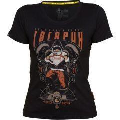 Женская футболка Mother Russia Гагарин - black