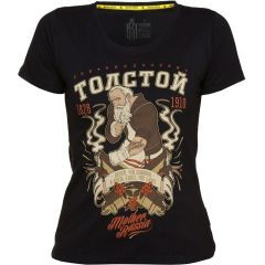 Женская футболка Mother Russia Толстой - white