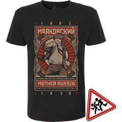 Детская футболка Mother Russia Маяковский - black