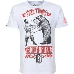 Футболка Mother Russia Русский Бокс white