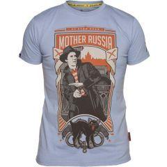 Футболка Mother Russia Московский детектив - light blue