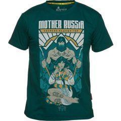Футболка Mother Russia Хозяева медных гор - green