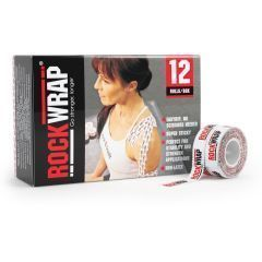 Спортивные тейпы Rocktape RockWrap 1,25см х 10м, логотип (упаковка 12 шт)