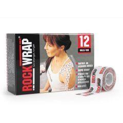 Спортивные тейпы Rocktape RockWrap 2,5см х 5м, логотип (упаковка 12 шт)