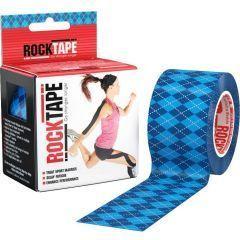 Кинезио тейп Rocktape Design, 5см х 5м, синий узор