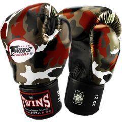 Боксерские перчатки Twins Special red camo