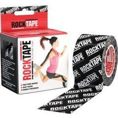 Кинезио тейп Rocktape, 5см х 5м, черный лого