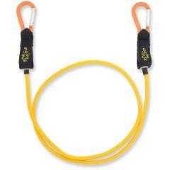 Желтый трубчатый эспандер с карабинами
