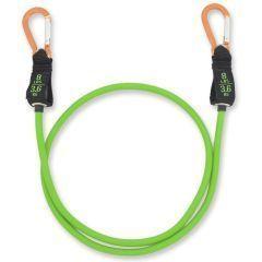 Зеленый трубчатый эспандер с карабинами