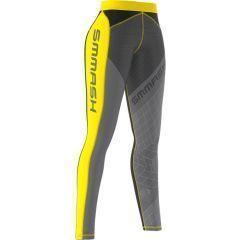 Женские компрессионные штаны Smmash Go Candy gray - yellow