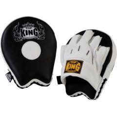 "Боксерские лапы Top King Boxing ""Ultimate"" black - white"