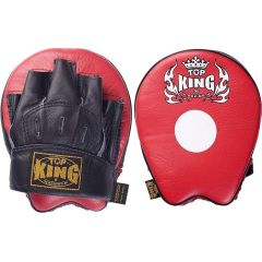 "Боксерские лапы Top King Boxing ""Ultimate"" black - red"