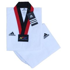 Добок для тхэквондо WTF Adidas Adi-Start белый с красно-черным воротником