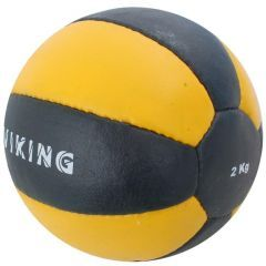 Медицинбол 2 кг Viking Medicine Ball Leather черно-желтый