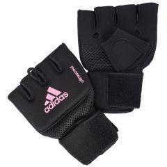 Накладки гелевые с бинтом 2 метра Adidas Quick Wrap Glove Mexican черно-розовые