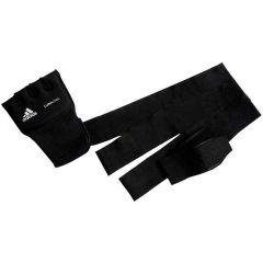 Накладки гелевые с бинтом 2 метра Adidas Quick Wrap Glove Mexican черные