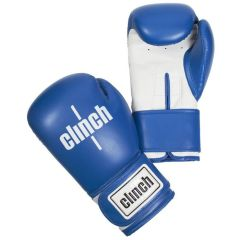 Перчатки боксерские Clinch Fight сине-белые