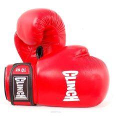 Перчатки боксерские Clinch Leather красные