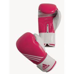 Перчатки боксерские Adidas Fitness розово-белые
